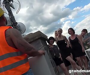 Mature Rooftop Orgy