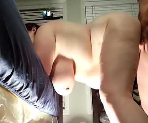 BBW with big titties creampied
