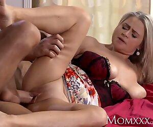 MOM Plump and busty proper milf next door tit wanks her neighbours cock