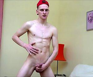Teen Boy Enjoy Jerk His Uncut Dick