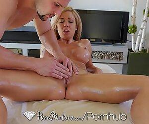 PureMature - Hot milf Parker Swayze gets sensual massage