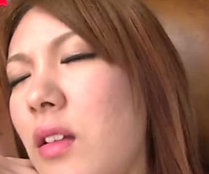 Asshole and pussy of curvy Japanese Rei gets poked with sex toys