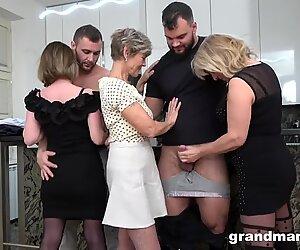 first-ever Ever grannie orgy! Cock Fest!