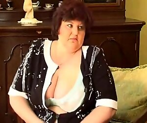 2 Weight granny  with major bust dildos and hands and fingers there snatch