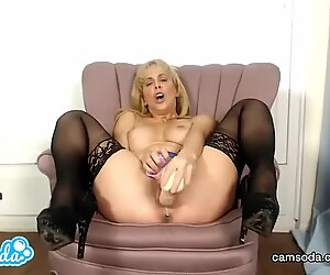 Cherie Deville big bumpers mummy fucking and sucking fake penis.