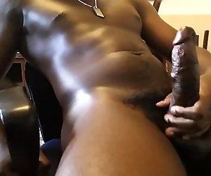 Watch me massage my cock till it explodes