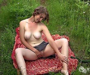 Busty Babe Mira Masturbating her Pussy