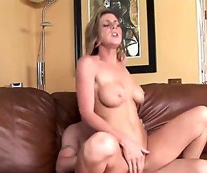 Horny slut Kayla Paige lets her tits bounce while she fucks