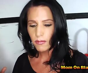 Gorgeous MILF pounded hard by two black dudes