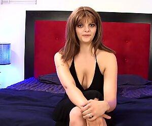 Big titty brunette amateur masturbates and squirts