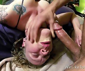 Girlfriend Barely Survives Deepthroat Face Fuck