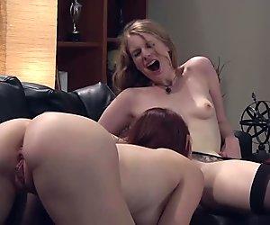 Redhead's carpet munching