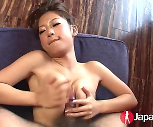 Japanese beauty titty fuck