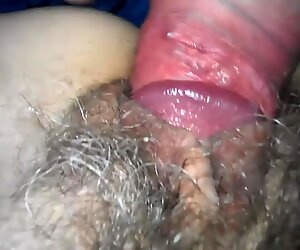 Hairy wife pussy get creampie