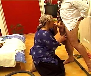 Disgusting fat gaffer Femke C gets her wet mature cunt licked tenderly