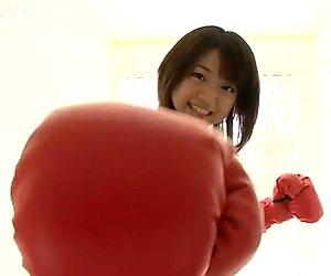 Tender Japanese  boxing girl Shizuka Nakamura