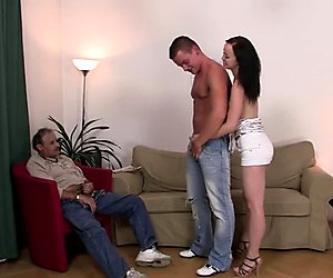 Fucking his young wife after oral exchange