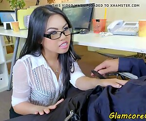 asian porn industry star boned by her boss