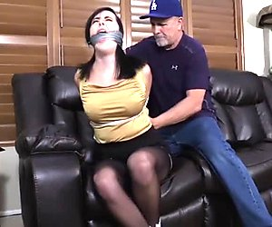 Black-haired MILF inbound and humiliated on the floor