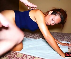 Dirty amateur Thai massage with a wild blowjob and sex