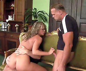 Hot MILF Double Fucked and Facial by two Stranger