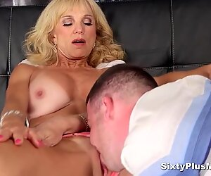 Blonde granny with big boobs fucked hard