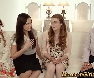 Mormon muffdived by lesbo