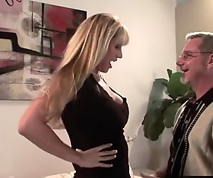 Blonde MILF fucks in front of her husband