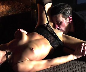 Naughty long-haired babe gets slammed without mercy