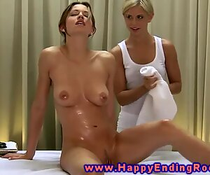Girl gets a happy ending massage