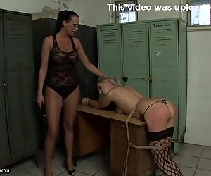Mandy Bright spanking the ass hot blonde babe