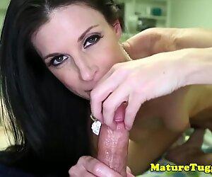 Stunning milf wanking after striptease
