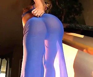 nice blonde big tits striptease