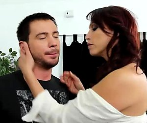 Horny and dirty MILF whore Nicki Hunter seduces the dude to fuck and gives him a head