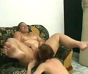2 Slutty Fat BBW Lesbian GF's love sucking pussy and ass-1