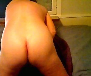 Boy wanking in bed