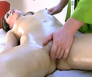 Kinky dude massaging the inner of Arunas cunt