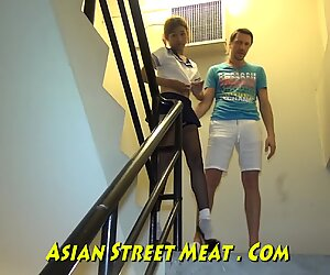bootie romped haning On asian Balcony