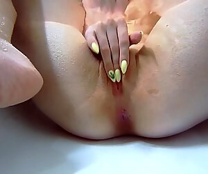 Bathroom Footfetish and three Fingers in Pussy Kira Loster