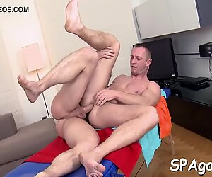 Hot guy is delighting cute stud with unfathomable anal riding