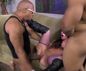 Giselle Leon Takes Two Black Cocks