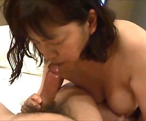 Horny Japanese milf  Kui Somya  blowjob and ass licking 2