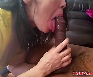 Loves suckling that 12 inch BBC