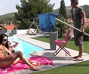 trio de feu    la piscine